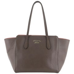 Gucci Swing Tote Leather Small, crafted in brown leather