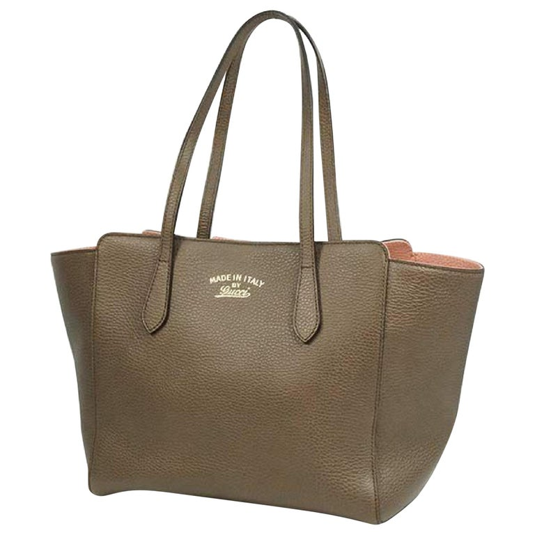 GUCCI Swing Womens tote bag 354408 khaki gray x pink For Sale