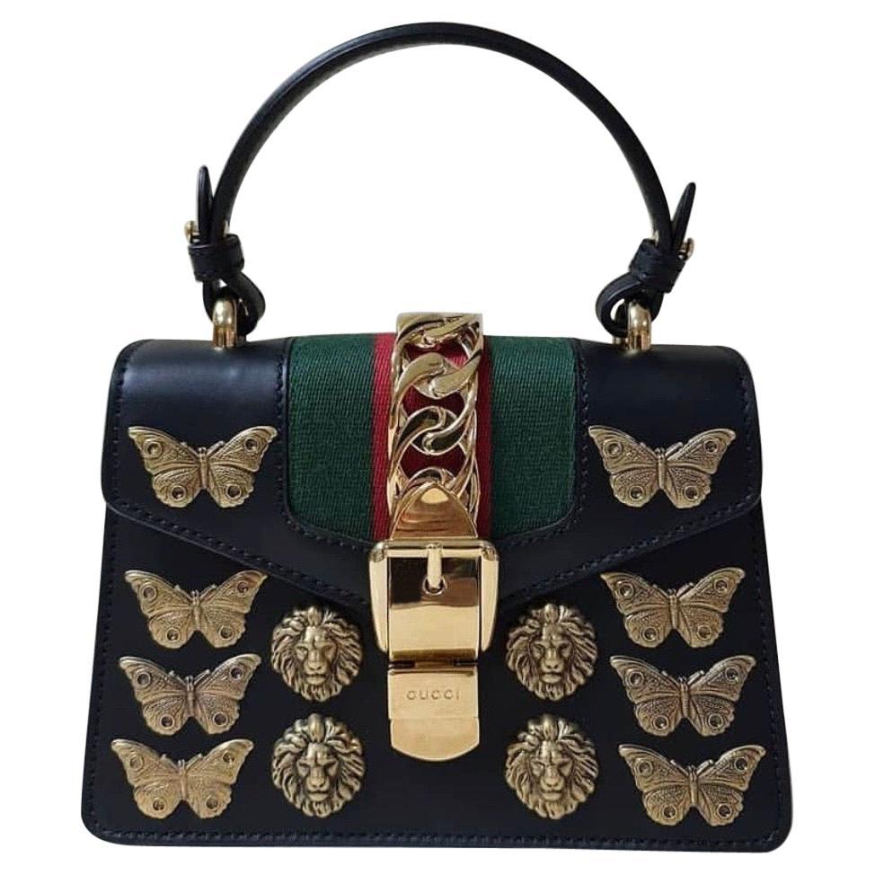 Gucci Sylvie Animal Small Top-Handle Satchel Bag