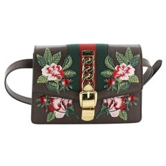 Gucci Sylvie Belt Bag Embroidered Leather