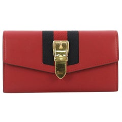 Gucci Sylvie Continental Wallet Leather