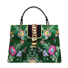 Gucci 'Sylvie' handbag in jacquard fabric with floral pattern
