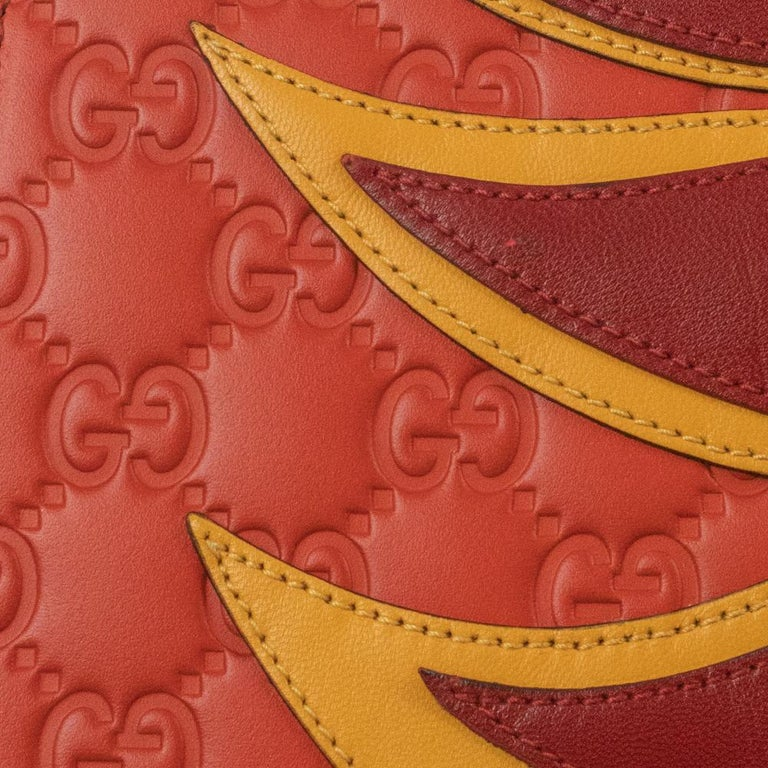 Gucci, Sylvie in orange leather For Sale 11