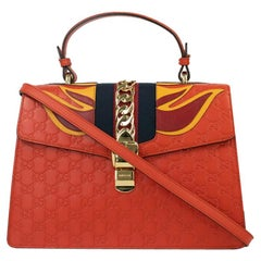 Gucci, Sylvie in orange leather