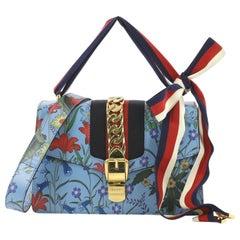 Gucci Sylvie Shoulder Bag Flora Leather Small
