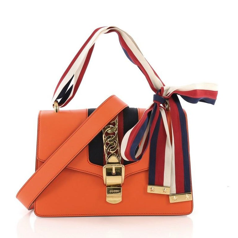 076246d474c9 Gucci Sylvie Shoulder Bag Leather Small For Sale at 1stdibs