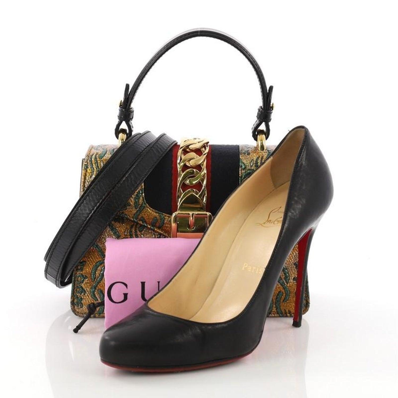 39def82c4b9 Gucci Sylvie Top Handle Bag Brocade Mini at 1stdibs
