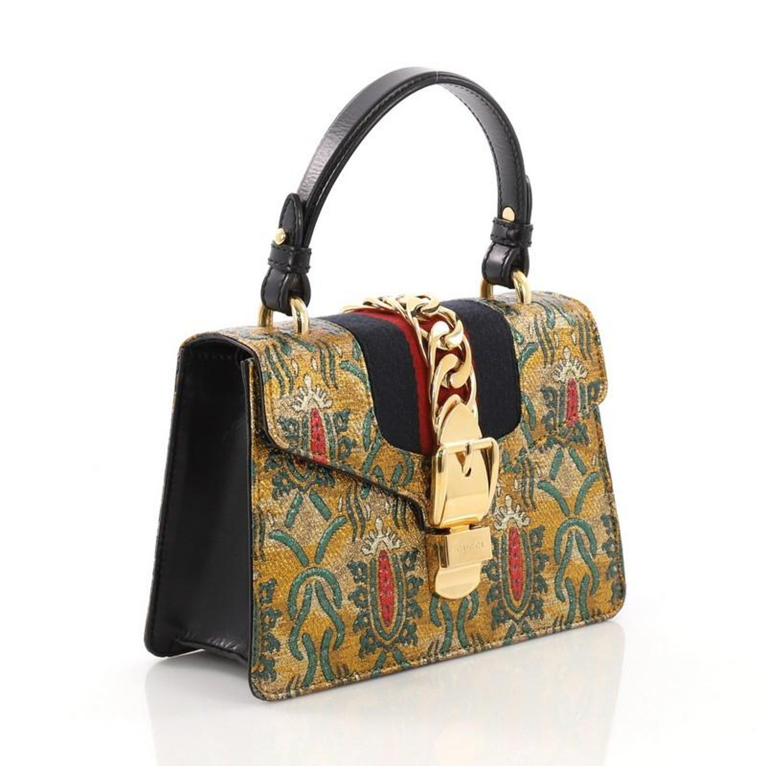 db4de521476 Gucci Sylvie Top Handle Bag Brocade Mini at 1stdibs