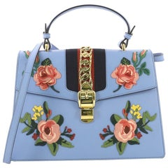 cd1bd7dd5 Gucci Turquoise Leather and GG Canvas Jackie O Hobo For Sale at 1stdibs