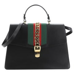 Gucci Sylvie Top Handle Bag Leather Large