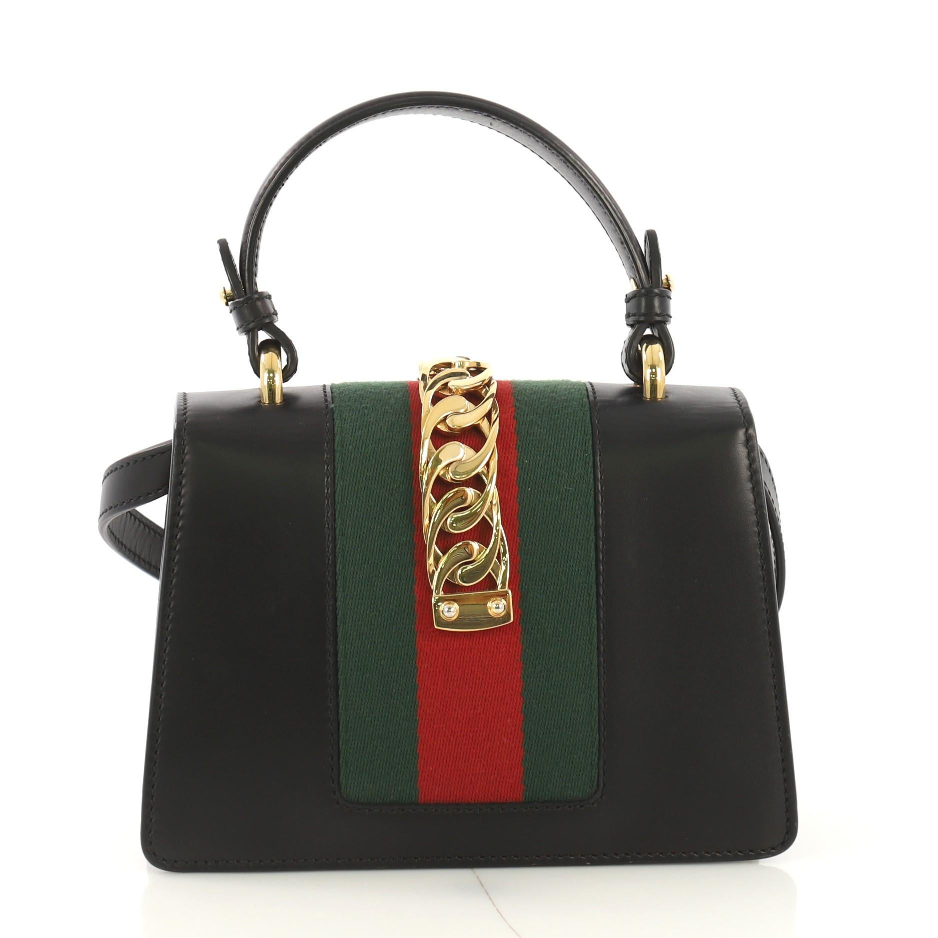 9c572d2c8 Gucci Sylvie Top Handle Bag Leather Mini For Sale at 1stdibs