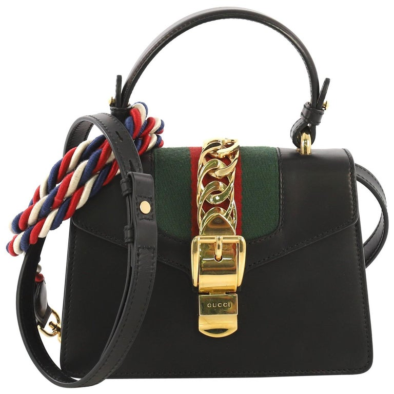 65d2c92ee Gucci Sylvie Top Handle Bag Leather Mini For Sale at 1stdibs