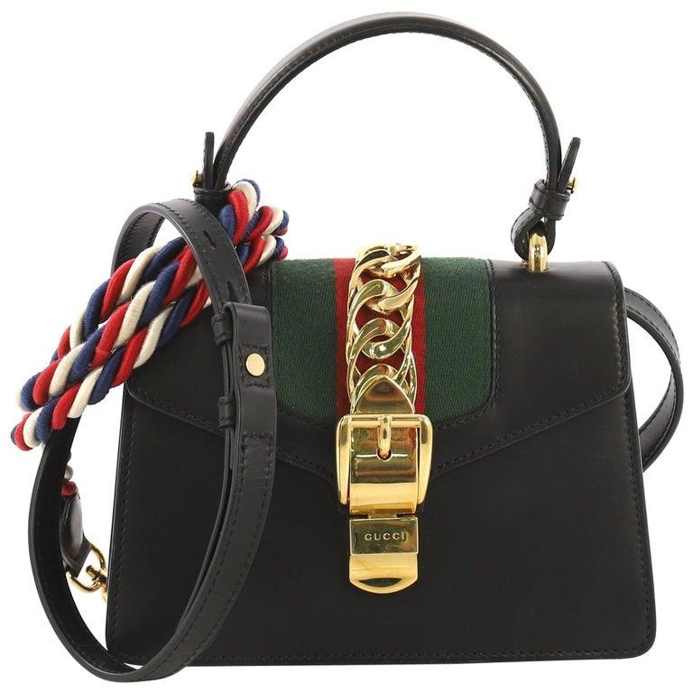 190e7747e Gucci Sylvie Top Handle Bag Leather Mini For Sale at 1stdibs