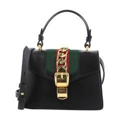 Gucci Sylvie Top Handle Bag Leather Mini