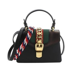 Gucci Sylvie Top Handle Bag Leather Mini