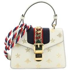 Gucci  Sylvie Top Handle Bag Printed Leather Mini