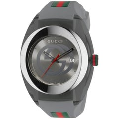 Gucci Sync YA137109 Extra Large Swiss Date Gray Dial Gray Rubber Unisex Watch