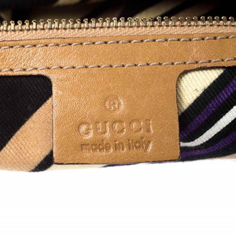 Gucci Tan Guccissima Leather Medium Britt Shoulder Bag For Sale 2