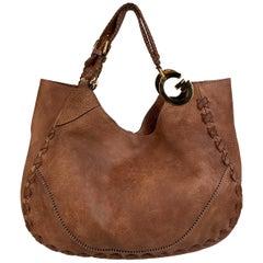 Gucci Tan Leather Charlotte Tote Bag Shopper Braid Details