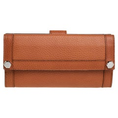 Gucci Tan Leather Continental Wallet