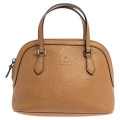Gucci Tan Leather Mini Dome Satchel