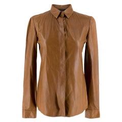 Gucci Tan Soft Leather Shirt	IT 40
