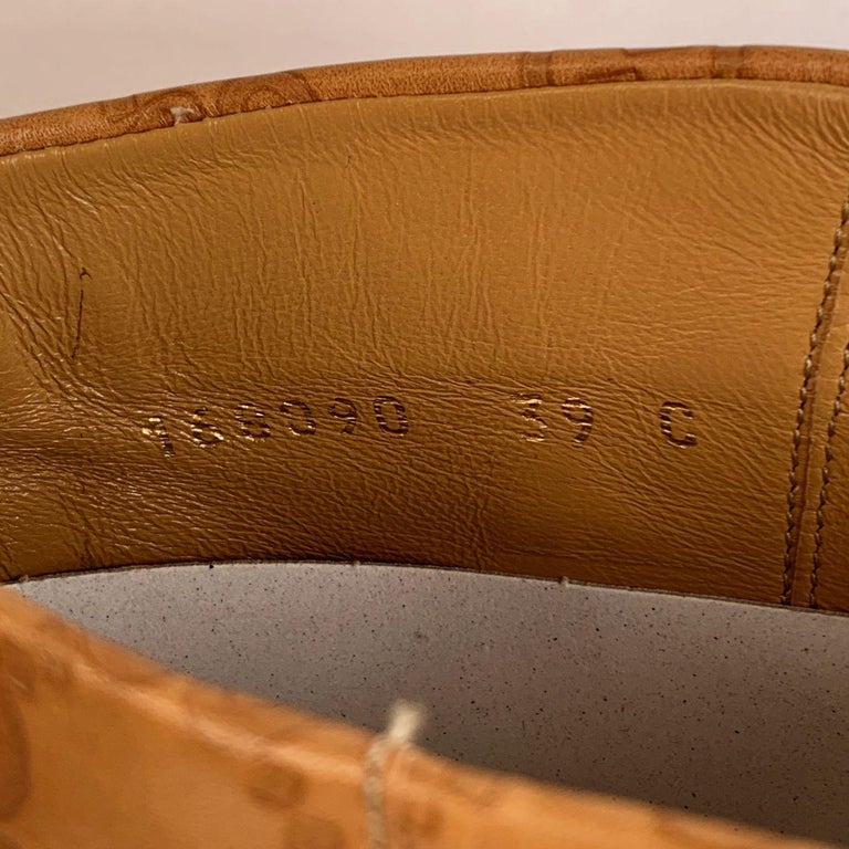 Gucci Tan Whisky Guccissima Leather Britt Flat Boots Size 39 C For Sale 4