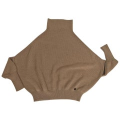 Gucci Tan Wool Oversize Turtleneck Sweater