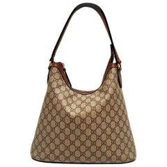 Gucci Taupe GG Supreme Hobo Bag