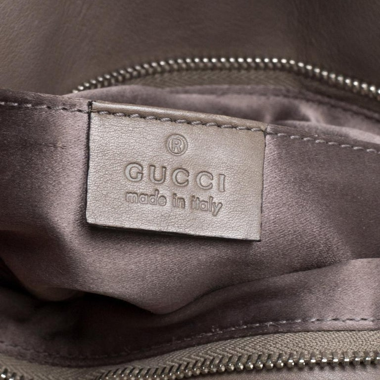 Gucci Taupe Leather Croisette Clutch For Sale 5