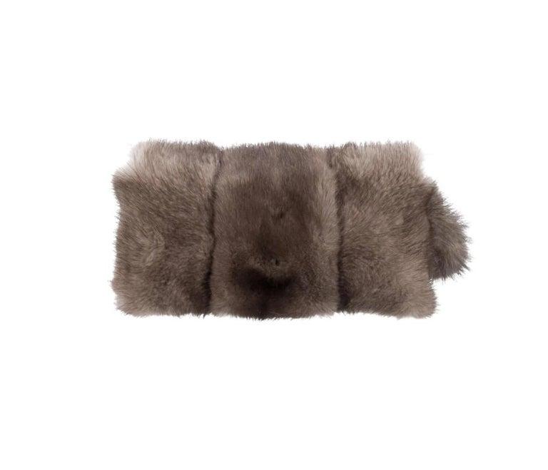 Mink fur Faux pearl Silver tone hardware Suede lining Flap closure  Handle drop 5