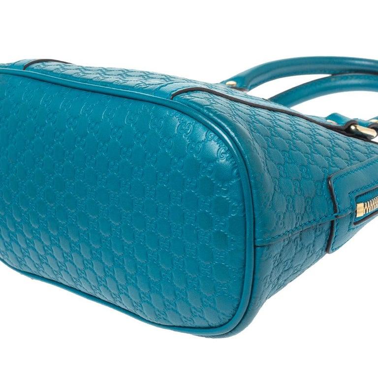 Gucci Teal Microguccissima Leather Mini Nice Dome Bag For Sale 5