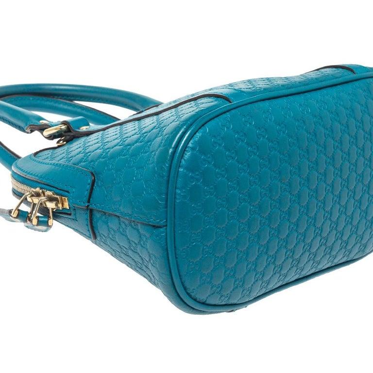 Gucci Teal Microguccissima Leather Mini Nice Dome Bag For Sale 6