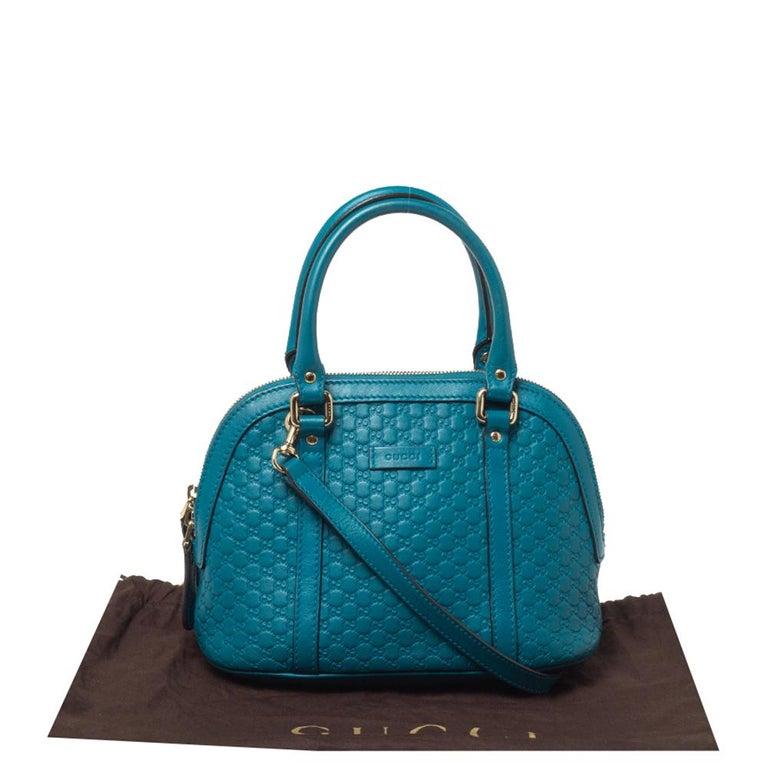 Gucci Teal Microguccissima Leather Mini Nice Dome Bag For Sale 8
