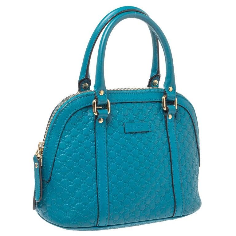 Gucci Teal Microguccissima Leather Mini Nice Dome Bag In Good Condition For Sale In Dubai, Al Qouz 2