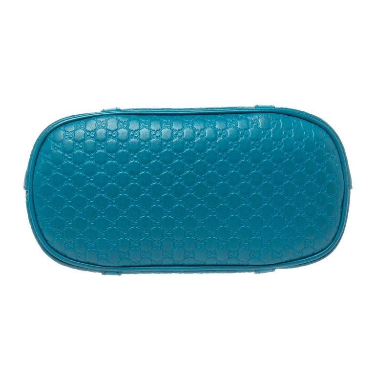 Women's Gucci Teal Microguccissima Leather Mini Nice Dome Bag For Sale