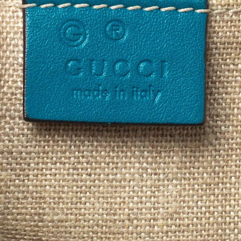Gucci Teal Microguccissima Leather Mini Nice Dome Bag For Sale 3