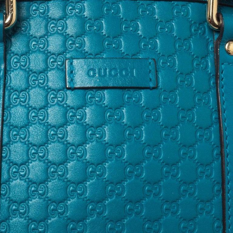 Gucci Teal Microguccissima Leather Mini Nice Dome Bag For Sale 4