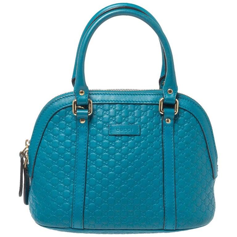 Gucci Teal Microguccissima Leather Mini Nice Dome Bag For Sale