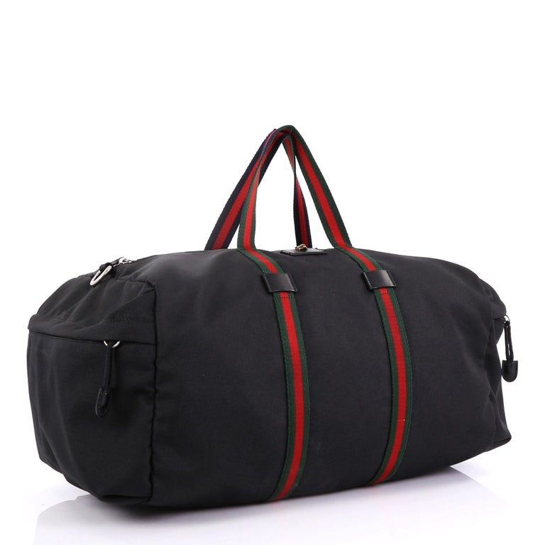 cd08c330d8d Gucci Technical Duffle Bag Techno Canvas Large For Sale at 1stdibs