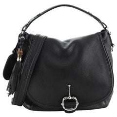 Gucci Techno Horsebit Convertible Hobo Leather Large