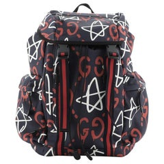 Gucci Techpack Backpack GucciGhost Print Canvas