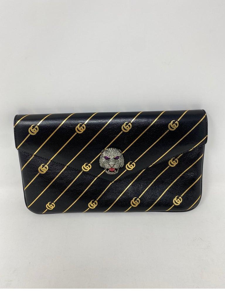 Black Gucci Thiara Broadway Envelope Clutch Bag