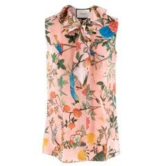 Gucci Tian Print Sleeveless Silk Top 40