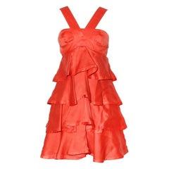 Gucci Tiered Ruffle Dress