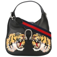 Gucci Tiger Patch Leather Dionysus Satchel