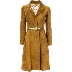 Gucci Tobacco Suede Coat