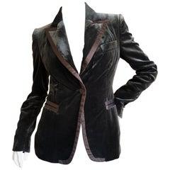 Gucci Tom Ford Fall 1996 Brown Velvet Peak Lapel Tuxedo Jacket