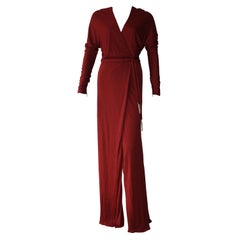 GUCCI Tom Ford Burgundy Wrap Gown