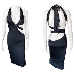 Gucci Tom Ford S/S 2005 Cutout Bodycon Black Dress